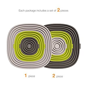 New Product Launch Sale - Bonke Heat Coasters Set of 2 - Pot, Plate, Mug, Hot Pan ,Beverage Drinks, Beer, Alcohol Holder and Spoon Rest - Kitchen or Bar Coaster - Soft Silicone Round Trivet Mat