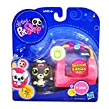 Hasbro Year 2009 Littlest Pet Shop Portable Pets Special Edition Pet Series Bobble Head Pet Figure Set #1523 -...
