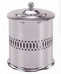 Taymor Single Roll Toilet Tissue Holder With Lid Chrome
