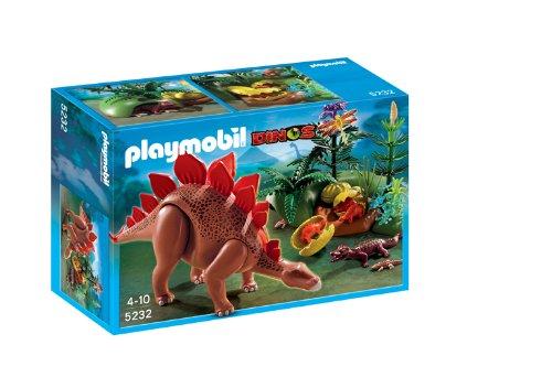 Playmobil - 5232 - Jeu de Construction - St�gosaure et ses B�b�s avec F�ret