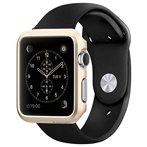 Apple Watch ケース, Spigen® [パーフェクト-フィット] シン・フィット アップル ウォッチ (42mm) 【国内正規品】(2015) (シャンパン・ゴールド【SGP11501】)