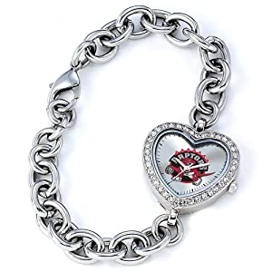 Ladies NBA Toronto Raptors Heart Watch by Jewelry Adviser Nba Watches