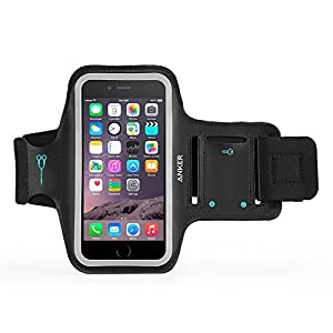 iPhone 6 Armband, Anker® Sport Armband for iPhone 6 (4.7 inch) with Headphone and Key Slots and 2 Extra Cuttable Velcro Strips