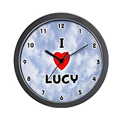 I Love Lucy Black Valentine Wall Clock