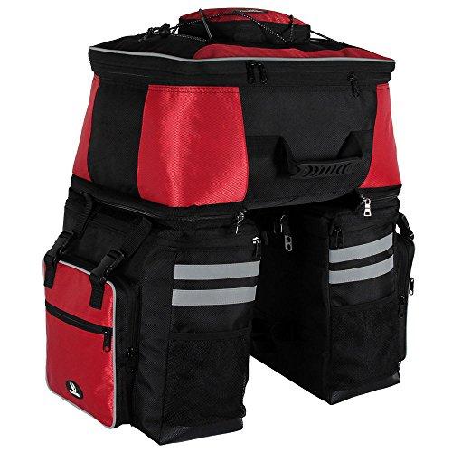 niceEshop TM) Roswheel 3 in 1 Fahrrad Sitztasche Handtasche und Umhängetasche mit wasserdichter Abdeckung, Schwarz