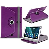 (Purple) Huawei T1 Pro 8 [8 inch ] Case [Stand Cover] for Huawei T1 Pro 8 [8 inch ] Tablet PC Case Cover [Stand Cover] Durable Synthetic PU Leather 360 Roatating cover Case [Stand Cover] with 4 springs by i- Tronixs