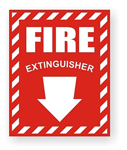 1 Pc Impressive Modern Fire Extinguisher Car Sticker Signs Boat Decals Industrial Emblem Truck Decor Size 3-3/4