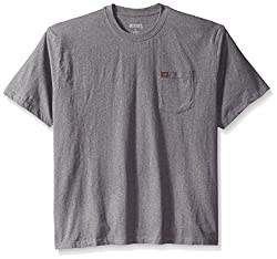 RIGGS WORKWEAR by Wrangler Men's Big & Tall Pocket T-Shirt, Charcoal Gray, XX-Large Tall