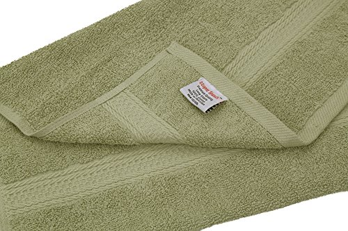 cotton large hand towels sage green 4 pack 16 x 28 inches multipurpose use for bath hand. Black Bedroom Furniture Sets. Home Design Ideas