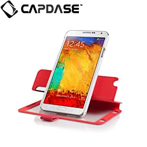 Capdase Sider V Baco Flip Case / Cover for Samsung Galaxy Note 3 - Red / White (FCSGNOTE3-1V92)