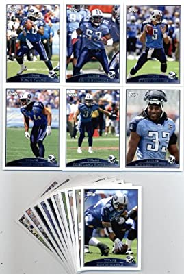 2009 Topps Tennessee Titans Football Cards Team Set-16 Cards Chris Johnson,Kerry Collins