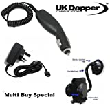 Genuine LG KS360 UK 3 Pin Mains Charger And In Car Charger + Mobile Car Holder Multi Buy
