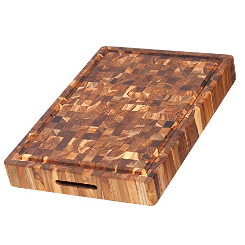 Teak-Butcher-Block-Rectangular-Cutting-Board-With-Hand-Grip-And-Juice-Canal-20-x-14-x-25-in-By-Teakhaus