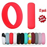 Huge Sale! 12 Pack Silicone Wedding Rings For Women, Premium Medical Grade Rubber Bands Antibacterial Wedding Band, Sports Gym Yoga Rubber Ring Comfortable Fit & Skin Safe. Best Ring Pack-Size 8