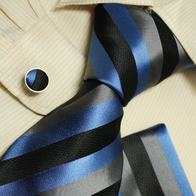 Black ties men in suits and ties grey blue birthday present man Italian style silk tie set H5124