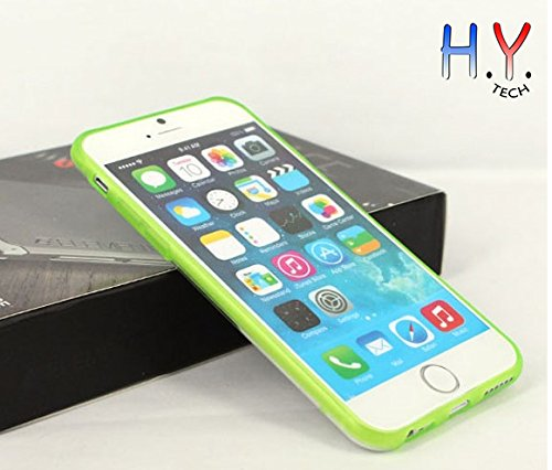 H.Y. TECH® Luminous Glow in the Dark Transparent Soft Case for iPhone 6 4.7inch (Green) (Cool Glow For Iphone 4 compare prices)