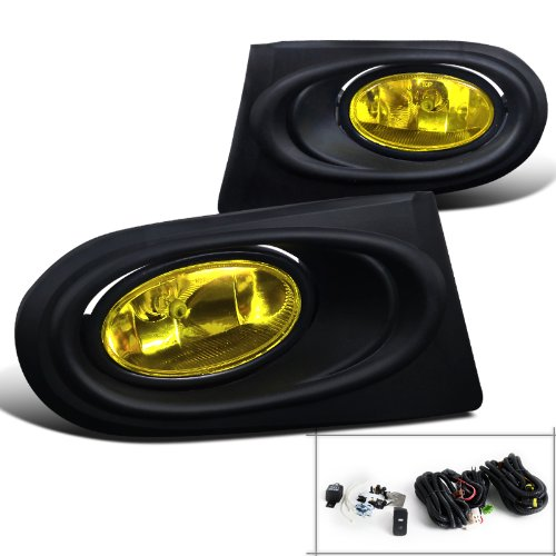Spec-D Tuning LF-RSX02AMOEM-RS Acura Rsx Base/ Type-S Oem Style Fog Lights Amber (Rsx Type S Front Bumper compare prices)