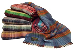 British recycled all wool picnic travel rug throw blanket