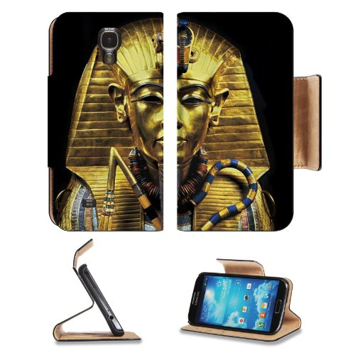 Gold Egypt Pharaoh Coffin Sarcophagus Samsung Galaxy S4 Flip Cover Case With Card Holder Customized Made To Order Support Ready Premium Deluxe Pu Leather 5 Inch (140Mm) X 3 1/4 Inch (80Mm) X 9/16 Inch (14Mm) Liil S Iv S 4 Professional Cases Accessories Op