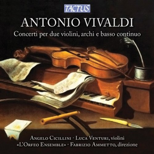 CD : VIVALDI / CICILLINI / VENTURI / AMMETTO - Concerto For Two Violins Strings & Continuo