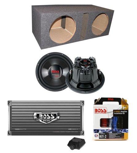 "2) Boss Cx124Dvc 12"" 3000W Car Subwoofers + Sub Box + 1600W Amplifier + Amp Kit"