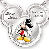Mickey Now And Always Pendant Necklace by The Bradford Exchange
