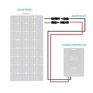 Renogy 20Ft 10 AWG Solar Panel and Controller Connector Adaptor Wire MC4 Extension Cables (Tamaño: 20Ft 10AWG)
