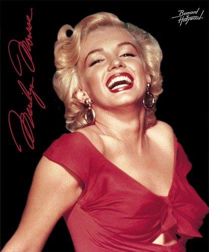Marilyn Monroe Red Dress Fleece Blanket