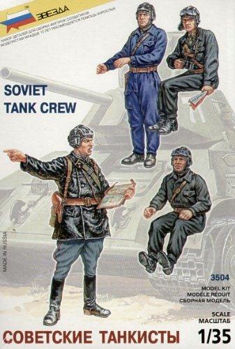 WWII Soviet Tank Crew (4) 1/35 Zvezda