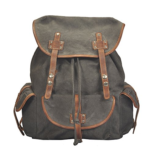 vilenca-holland-40759-unisex-canvas-leder-rucksack-retro-rucksack-schulrucksack-bikerucksack-l42-cm-