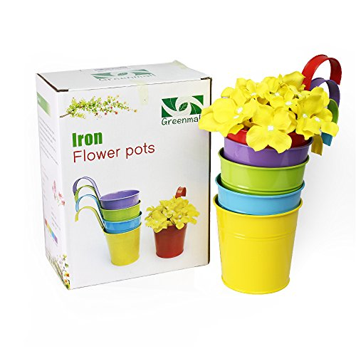 greenmall-5-pcs-flower-pots-metal-iron-flower-pot-hanging-planter-5-colorsbalcony-garden-plant-home-