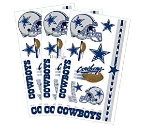 Dallas cowboys temporary body tattoos 3 pack for Dallas cowboys star temporary tattoos