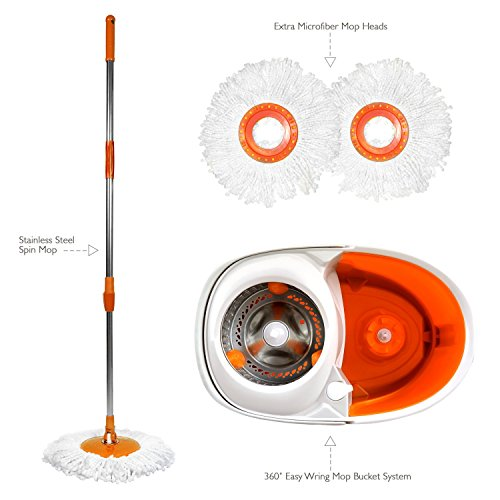 Sir Mops A Lot Spin Mop Revolutionary Rolling Spin Mop