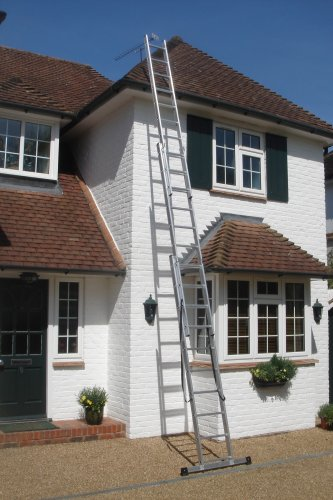 6.50m- 3 Section Extension Ladder with Integral Stabiliser