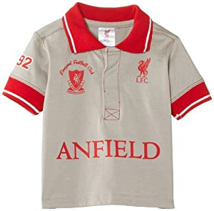 Brecrest Baby Boys Liverpool FC LFC206 T-Shirt, Grey, 3-6 Months from Brecrest