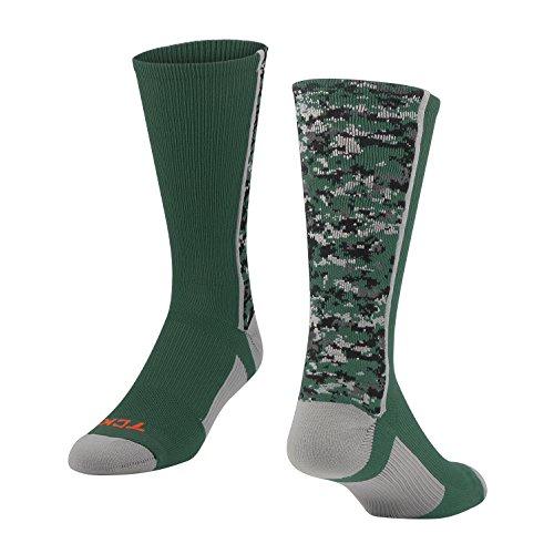 TCK Digital Camo Crew Socks (Dark Green, Small) Green Camouflage Shorts