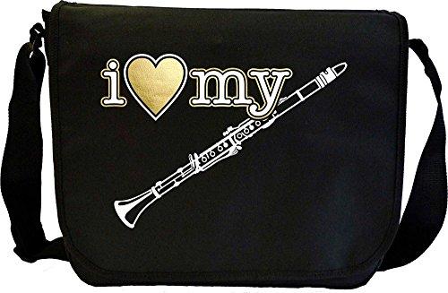 Clarinet I Love My - Sheet Music Document Bag Borsa Spartiti MusicaliTee