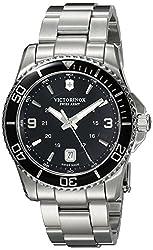 Victorinox Mens 241697 Maverick Analog Display Swiss Quartz Silver Watch