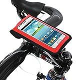 [正規品] 【BM WORKS】 SLIM3 (赤, L) 《自転車用 スマートフォン ホルダー》 iPhone 5・4S・4・3GS, Galaxy S3・S2・S・NOTE・NOTE 2 マルチケース