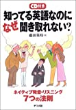 知ってる英語なのになぜ聞き取れない?―ネイティブ発音・リスニング7つの法則