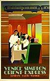 Orient-Express Italy Paris London Venice France England European Travel Poster 2