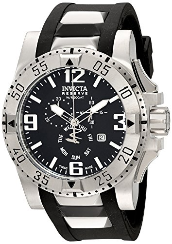 invicta-mens-18202-excursion-stainless-steel-watch-with-black-pu-band