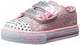 Skechers Kids Shuffles Light-Up Sneaker (Toddler/Little Kid),Pink/Silver,6 M US Toddler