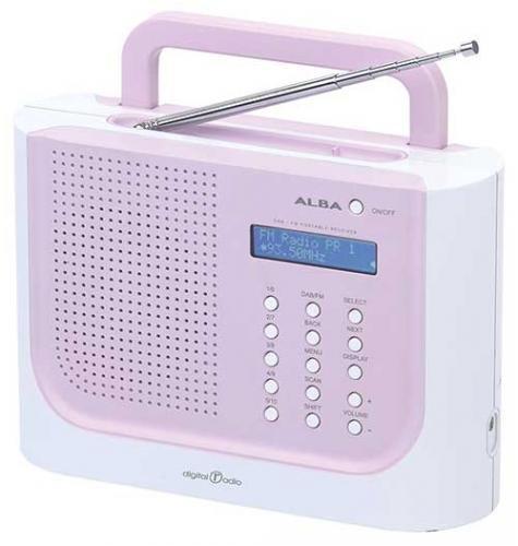 Alba TRDAB2820 -  Portable DAB Radio with FM - White/Pink