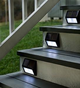 Amazon Set Four Solar Step Lights Outdoor Step