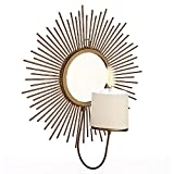 Importwala sunburst wall candle holder gold