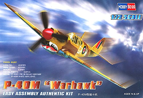 Hobby Boss P-40M Warhawk Airplane Model Building Kit