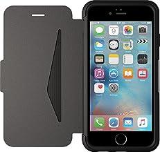 Otterbox Strada Etui en cuir véritable antichoc fin/élégant pour Iphone 6 et 6S Noir