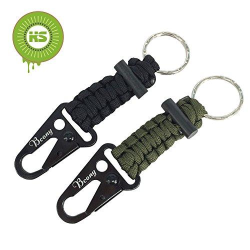 kiwisunny-2-piezas-llavero-de-supervivencia-paracord-con-mosqueton-iniciador-de-fuego-para-campament