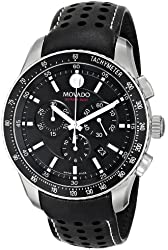 "Movado Men's 2600096 ""Series 800"" Stainless Steel Watch with Black Leather Band"